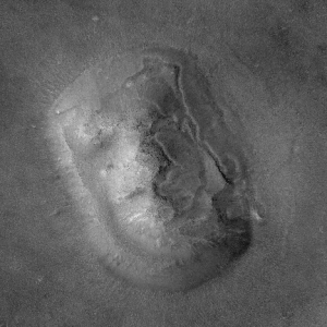 Face on Mars - from Mars Global Surveyor
