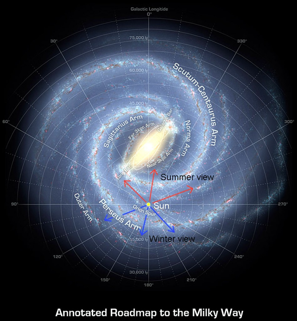 Artist Map of the Milky Way Galaxy